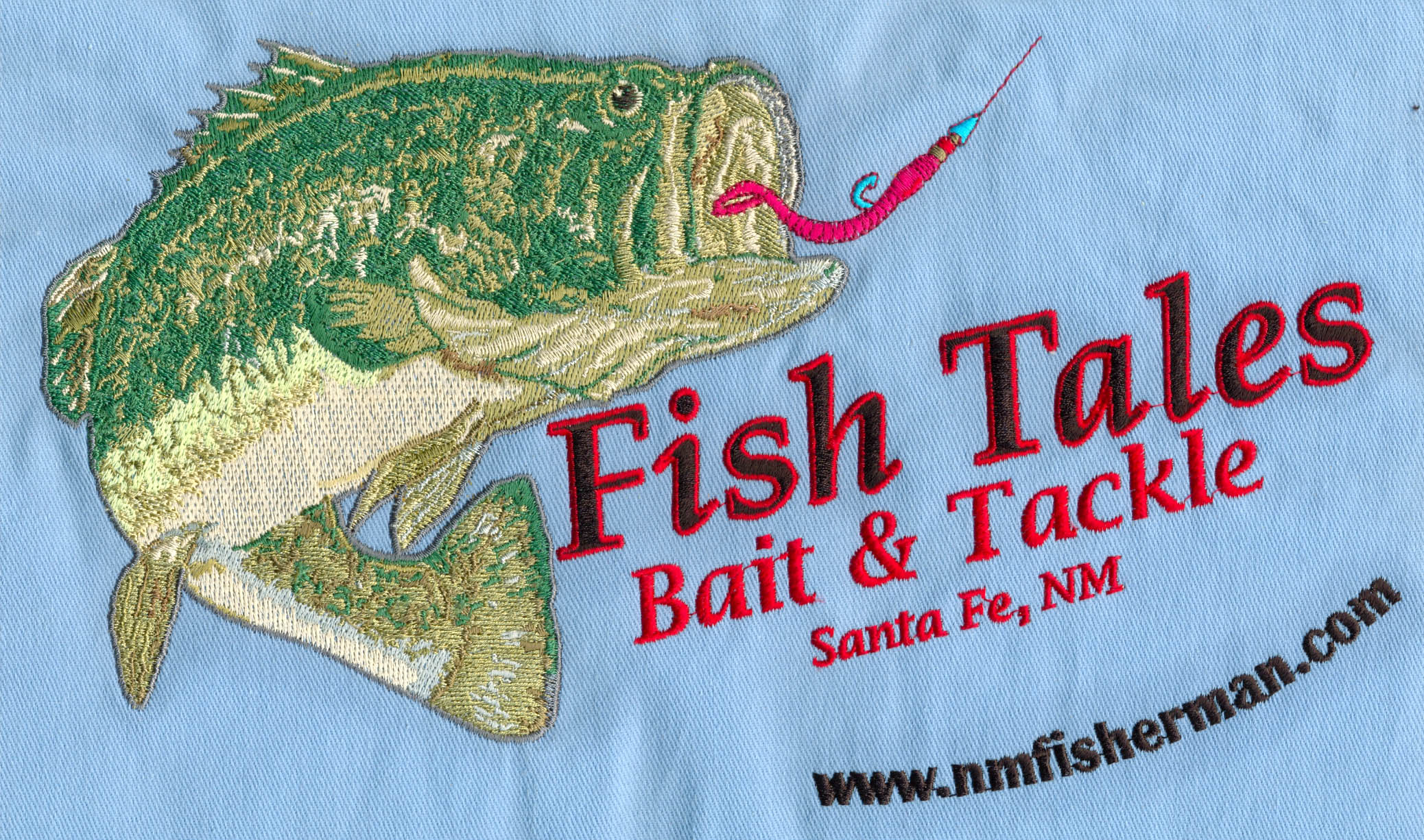 Small Text Embroidery Digitizing with Fish sampled on Barudan